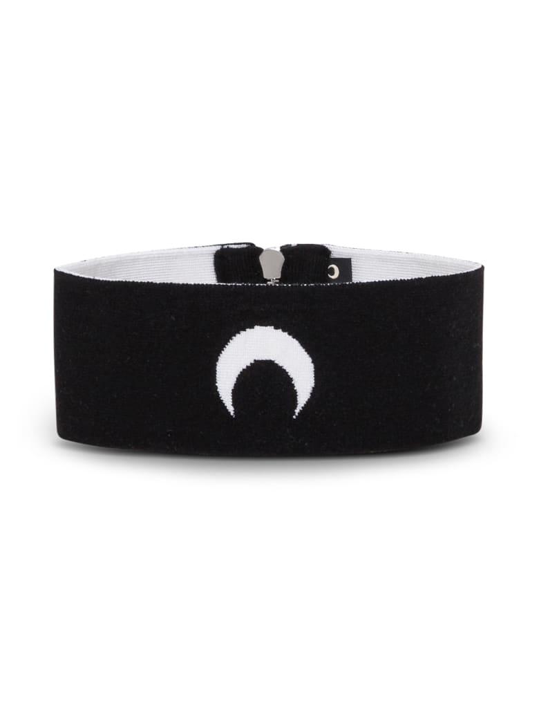 Marine Serre Moon Collar In Balck Stretch Knit - Black