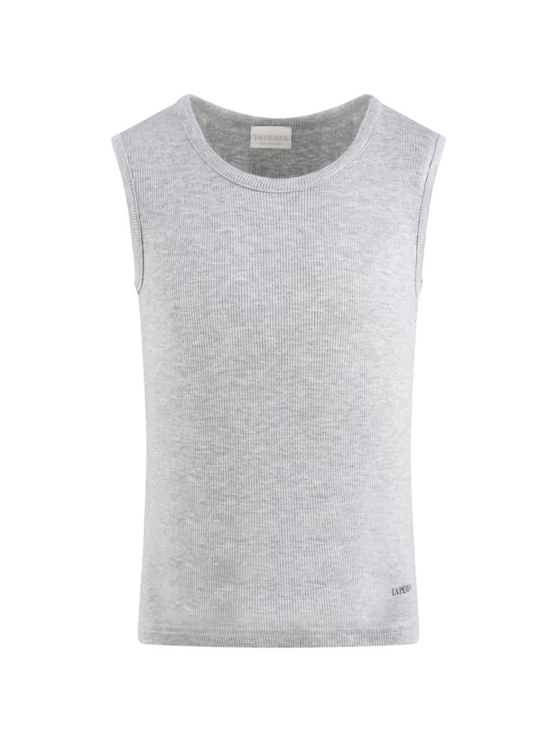 La Perla Grey Tank Top For Boy - Grey