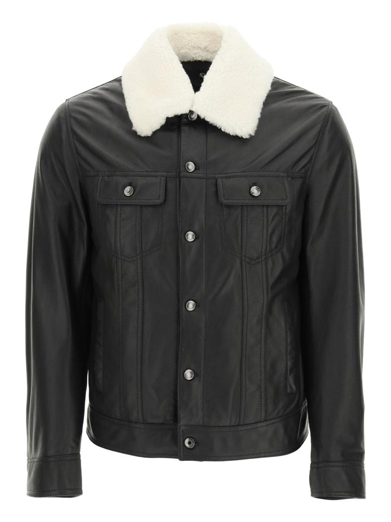 Dolce & Gabbana Lambskin Aviator Jacket - NERO (Black)