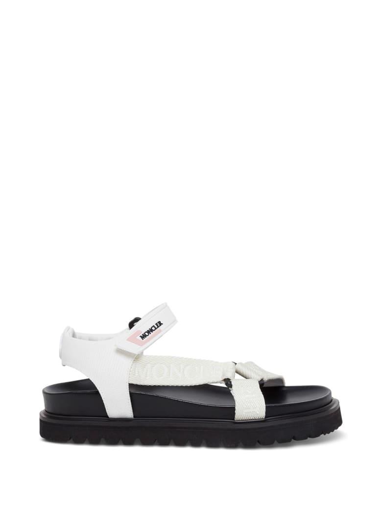 Moncler Flavia White Sandals With Logo - White