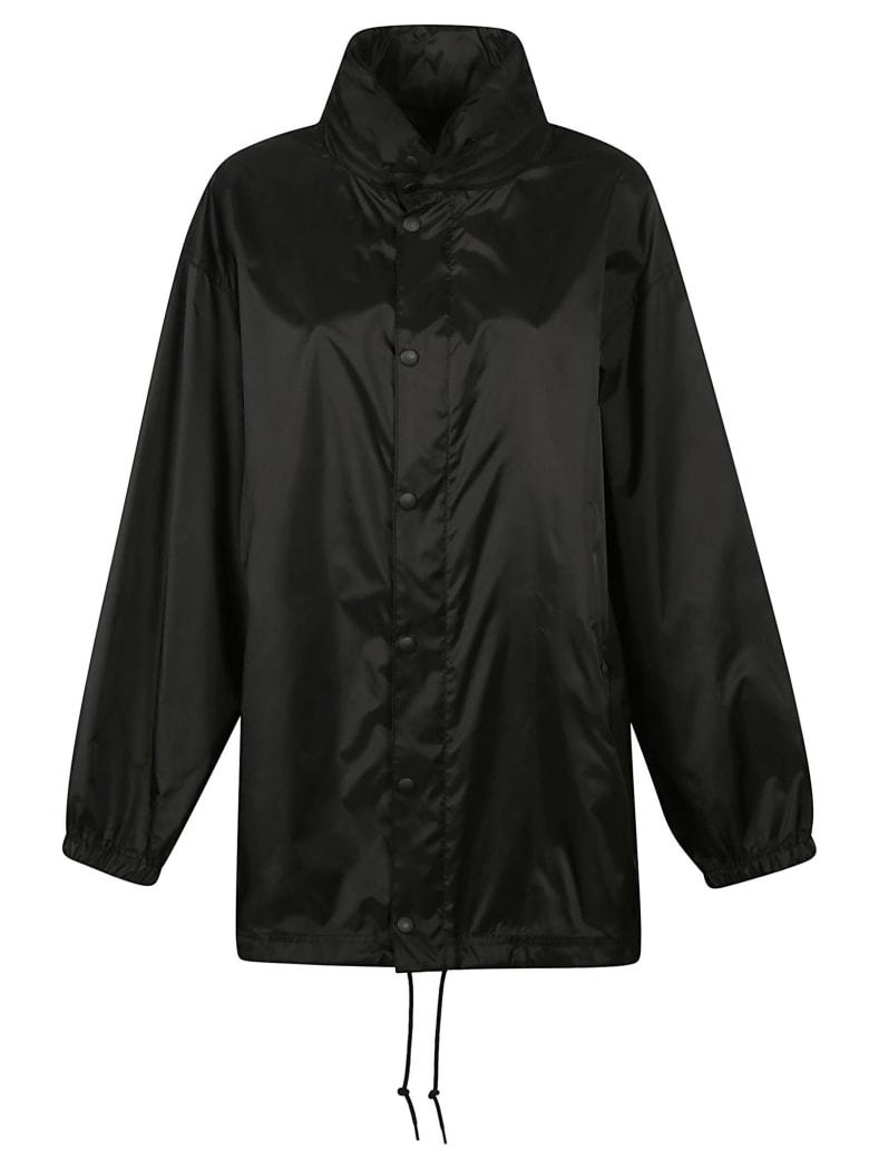 Balenciaga Back Logo Print Mid-length Jacket - Nero