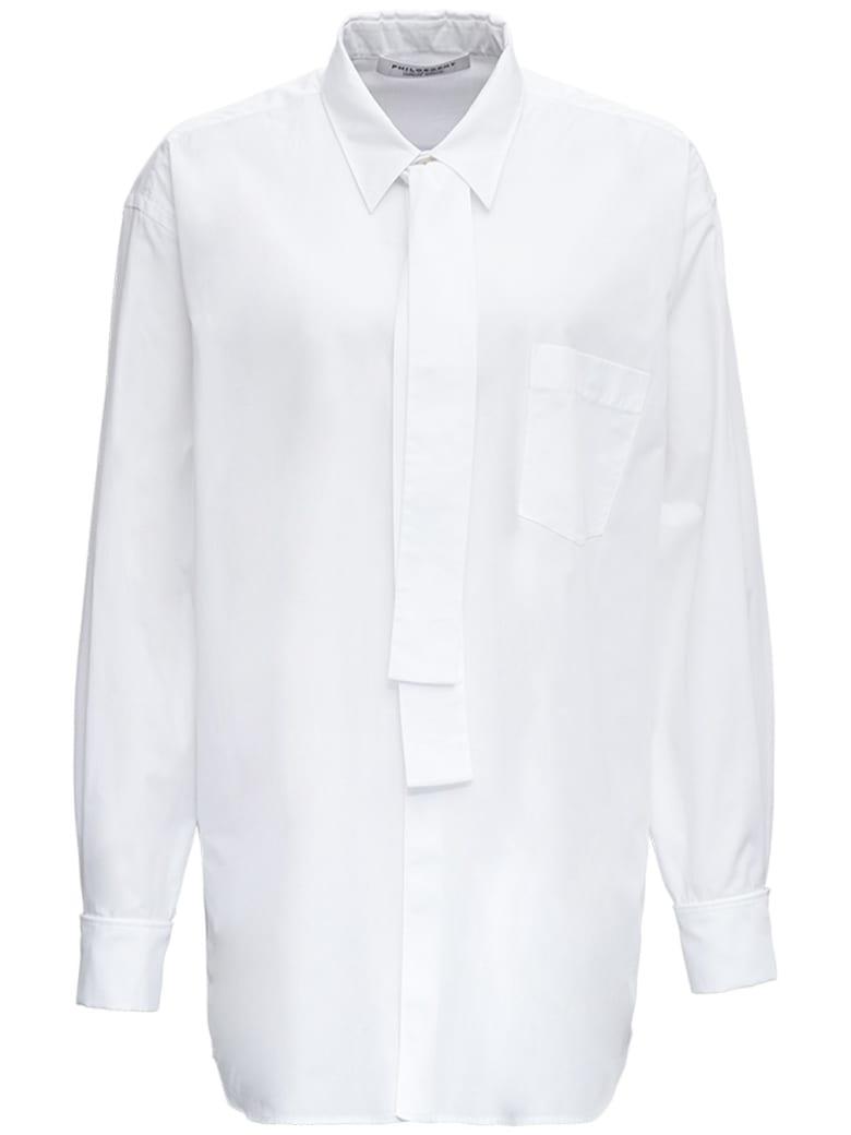 Philosophy di Lorenzo Serafini White Cotton Poplin Shirt - White