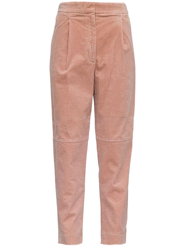 Antonelli Titano Pink Velvet Trousers - Pink