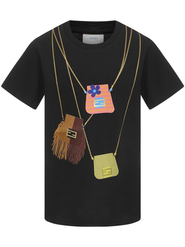 Fendi Kids T-shirt - Black