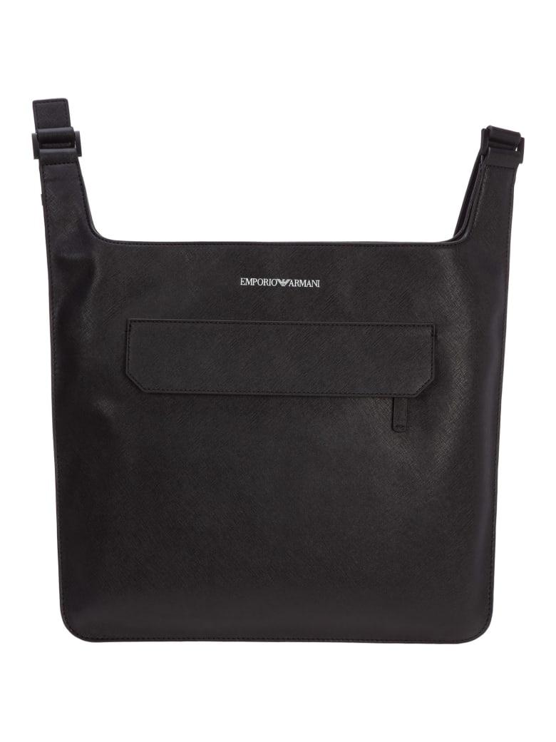 Emporio Armani Eagle Crossbody Bags - Nero