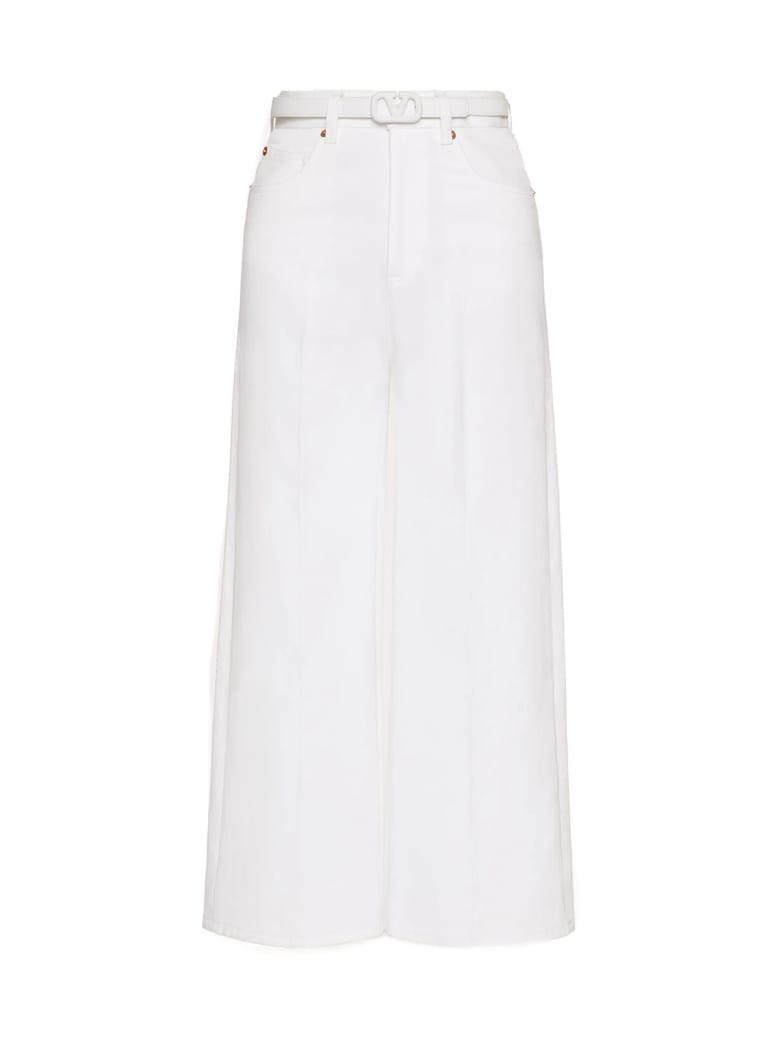 Valentino Belted Denim Pants - Optic White
