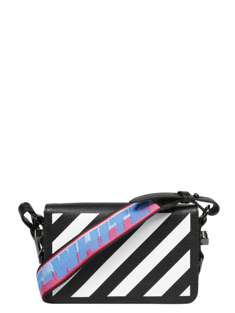 Off-White Diagonal Mini Flap Bag - Black
