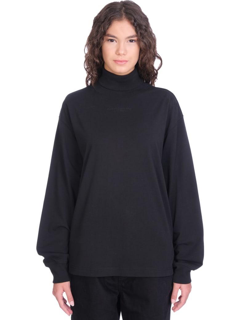 Alexander Wang T-shirt In Black Cotton - black