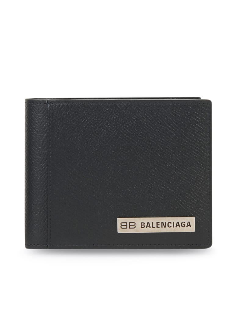 Balenciaga Plate Squar Fold Wal - Black