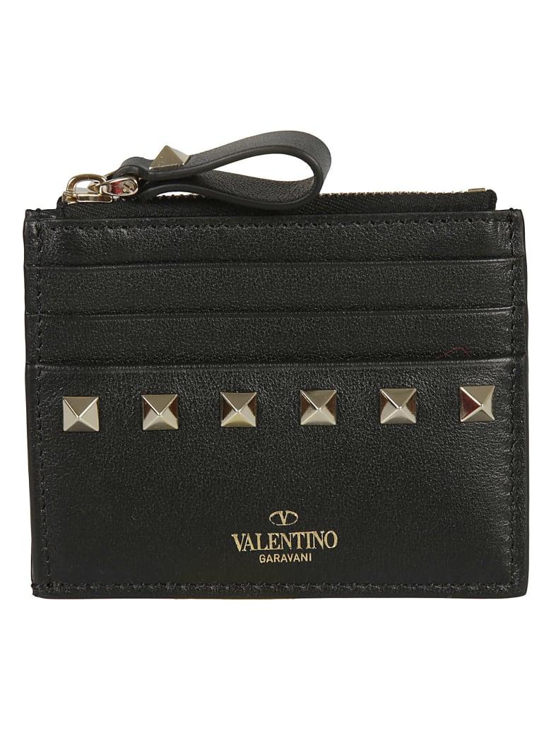 Valentino Garavani Studded Card Holder - Black
