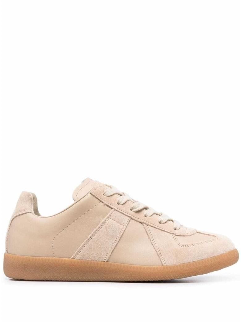 Maison Margiela Replica Beige Leather Sneakers - Beige