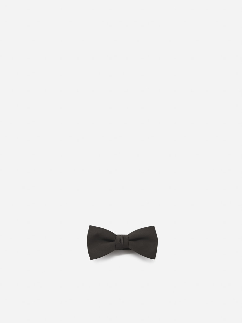 Lanvin Monochrome Bow Tie Made Of Silk - Brown