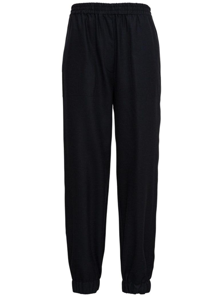 Jucca Black Stretch Wool Pants - Black