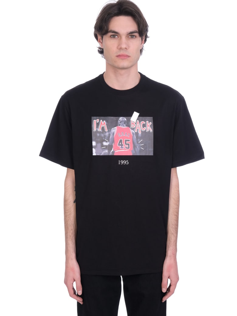 Throwback T-shirt In Black Cotton - black