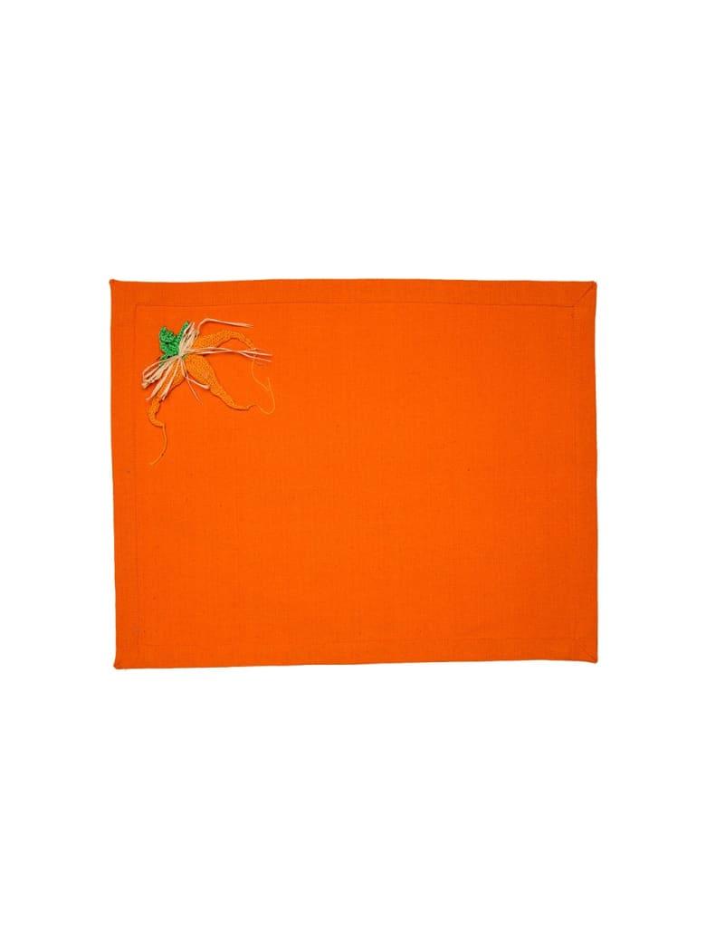 Le Botteghe su Gologone Placemats Crochet 35x45 Cm - Orange