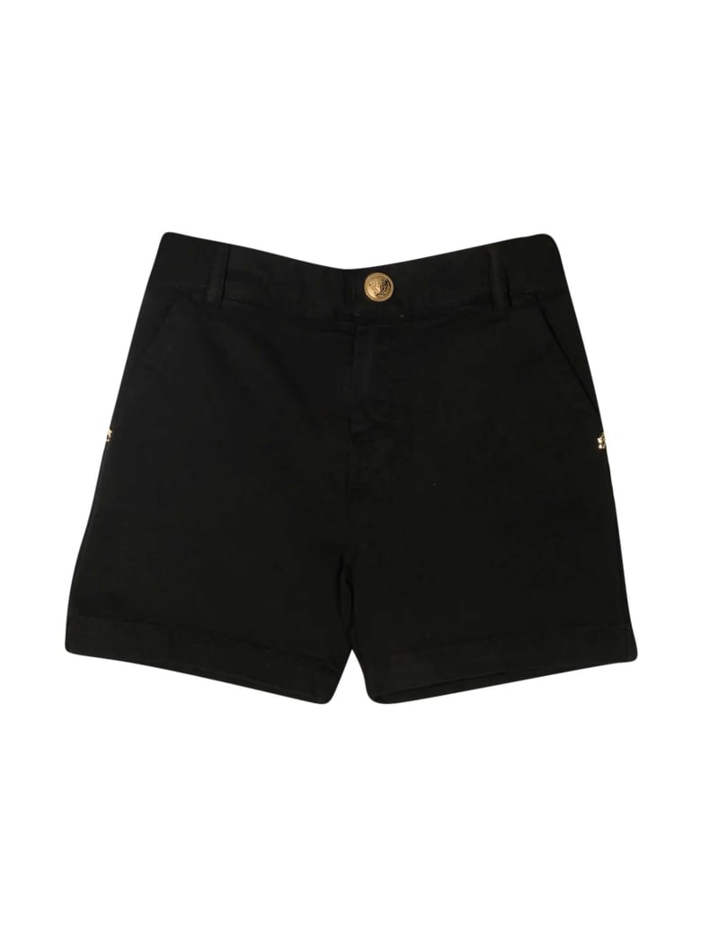 Young Versace Black Shorts - Nero