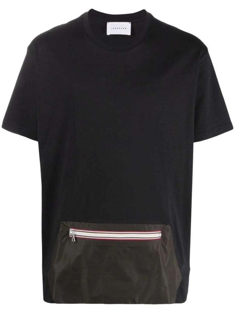Low Brand Black Cotton T-shirt - Nero+verde