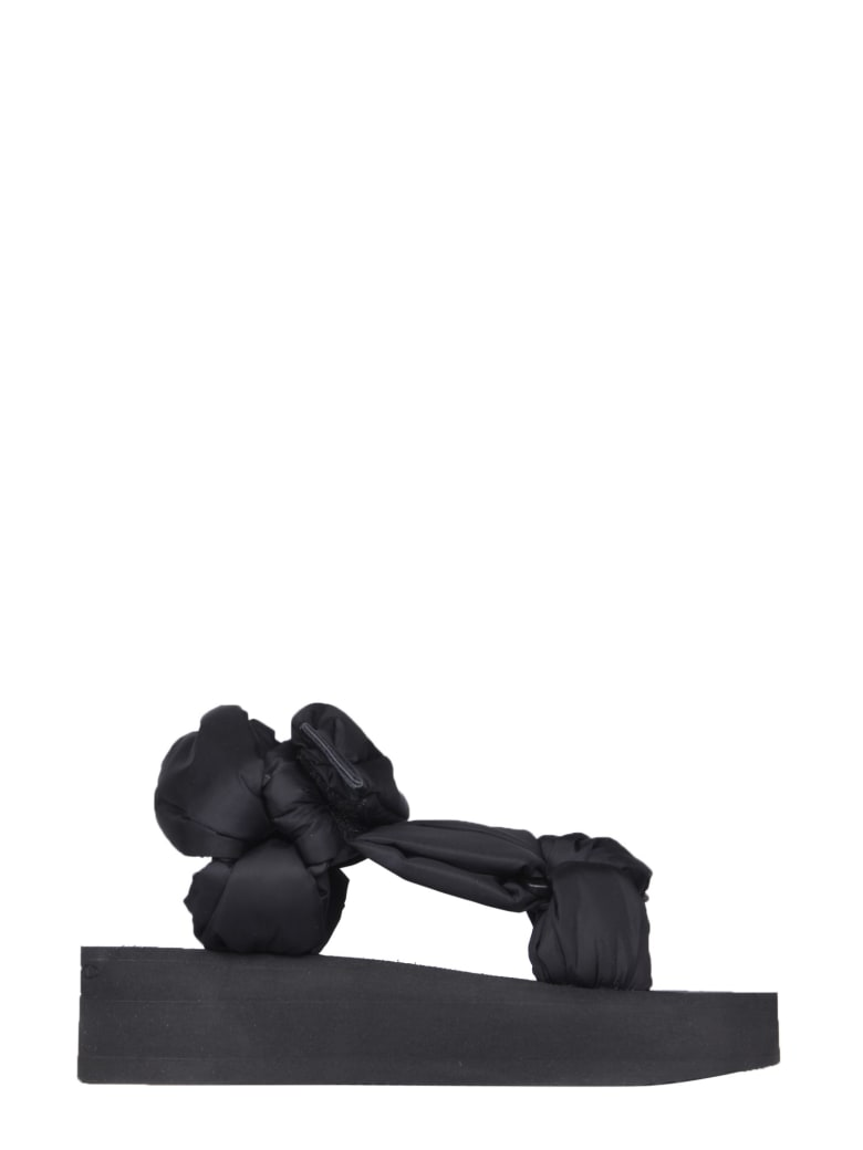 RED Valentino Platform Sandals With Bows - NERO