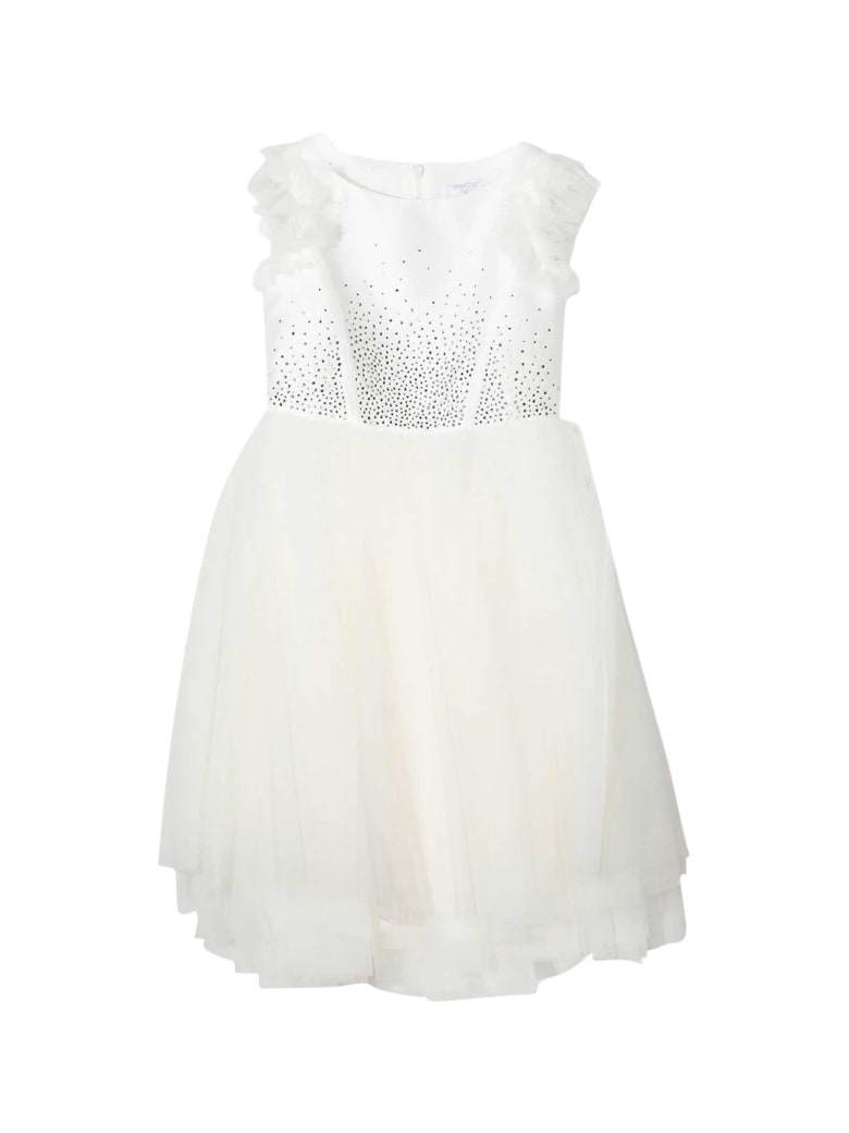 Monnalisa Teen White Dress - Panna