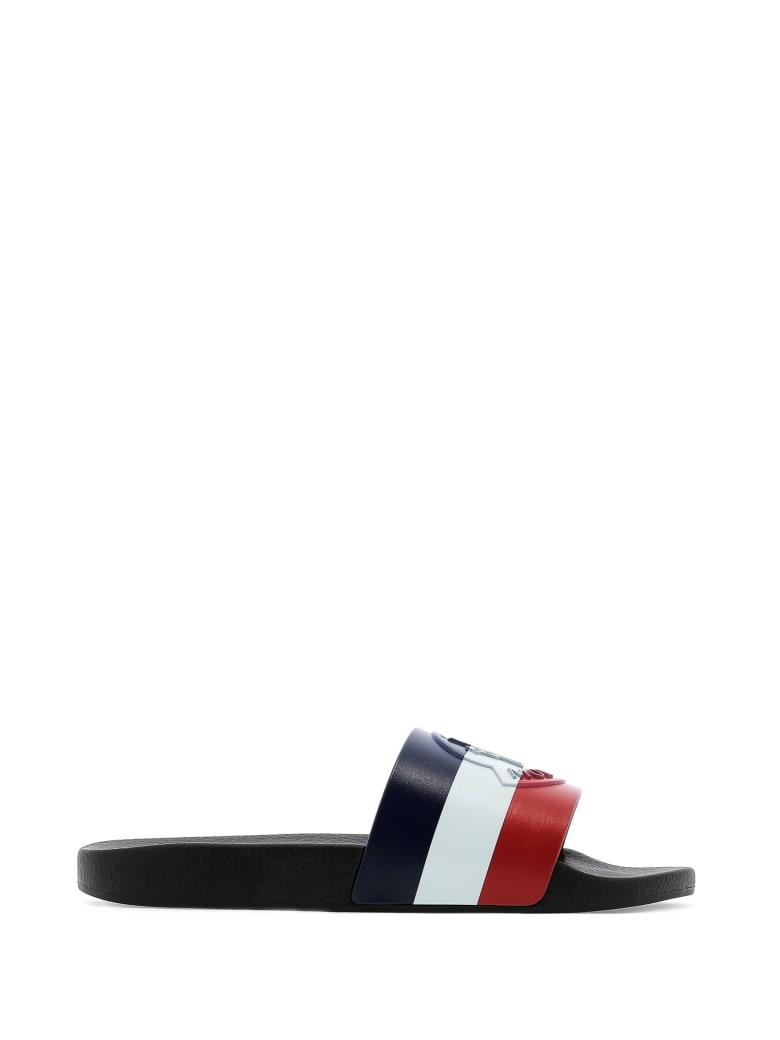 Moncler Moncler Logo Embossed Slides - BLACK