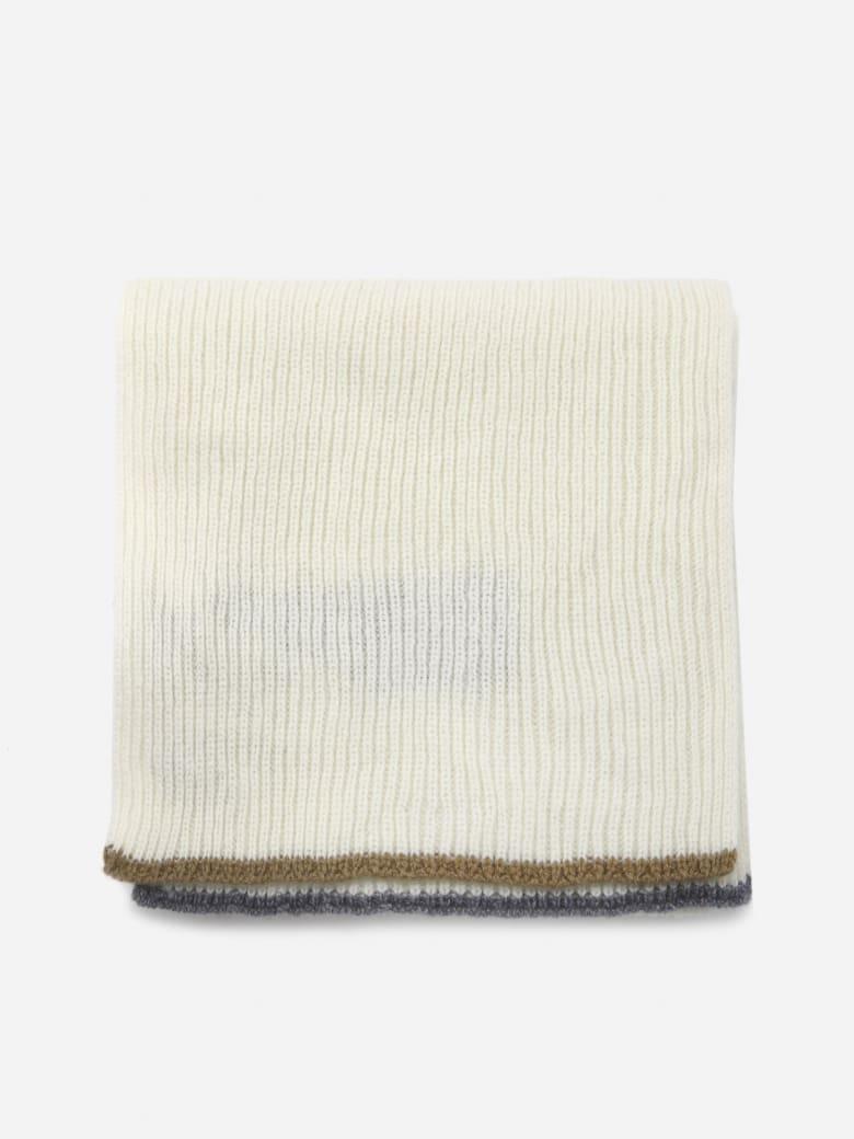 Eleventy Ribbed Cashmere Scarf - White