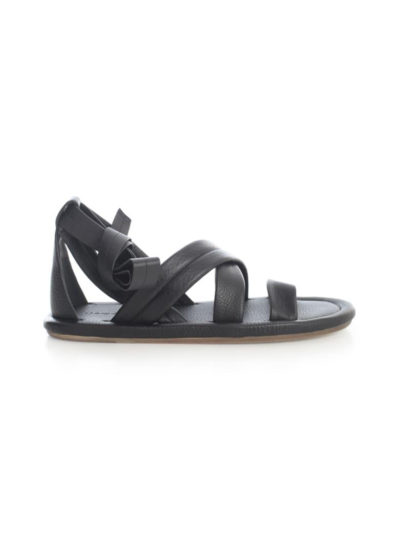 Marsell Cornice Crossed Sandal - Nero