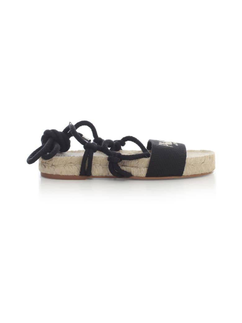Philosophy x Manebí Canvas Slave Sandals W/philosophy Laces - Black