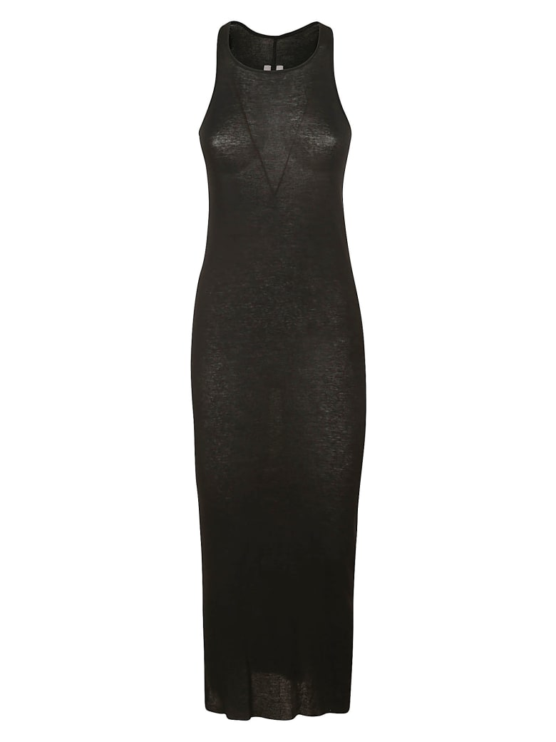 Rick Owens Slim Tank Dress - Black