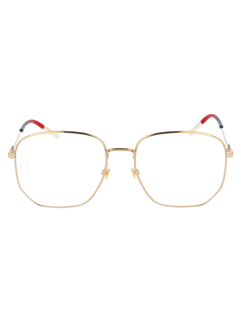 Gucci Gg0396o Glasses - 002 GOLD GOLD TRANSPARENT