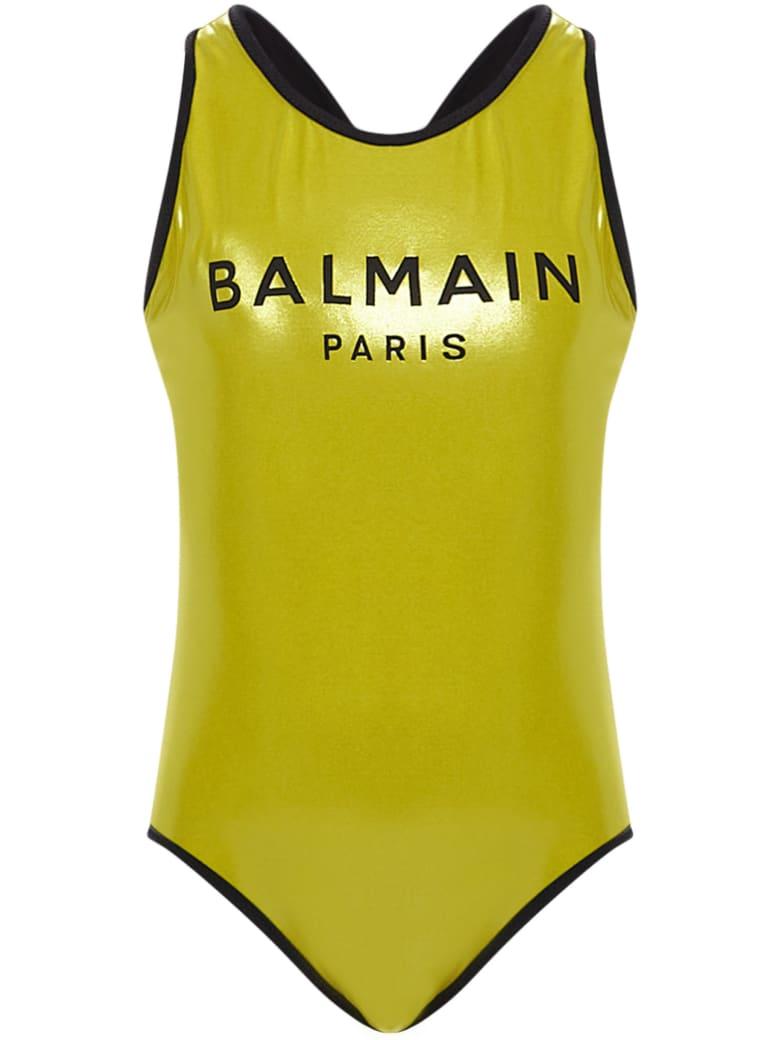 Balmain Paris Kids Swimsuit - Gold