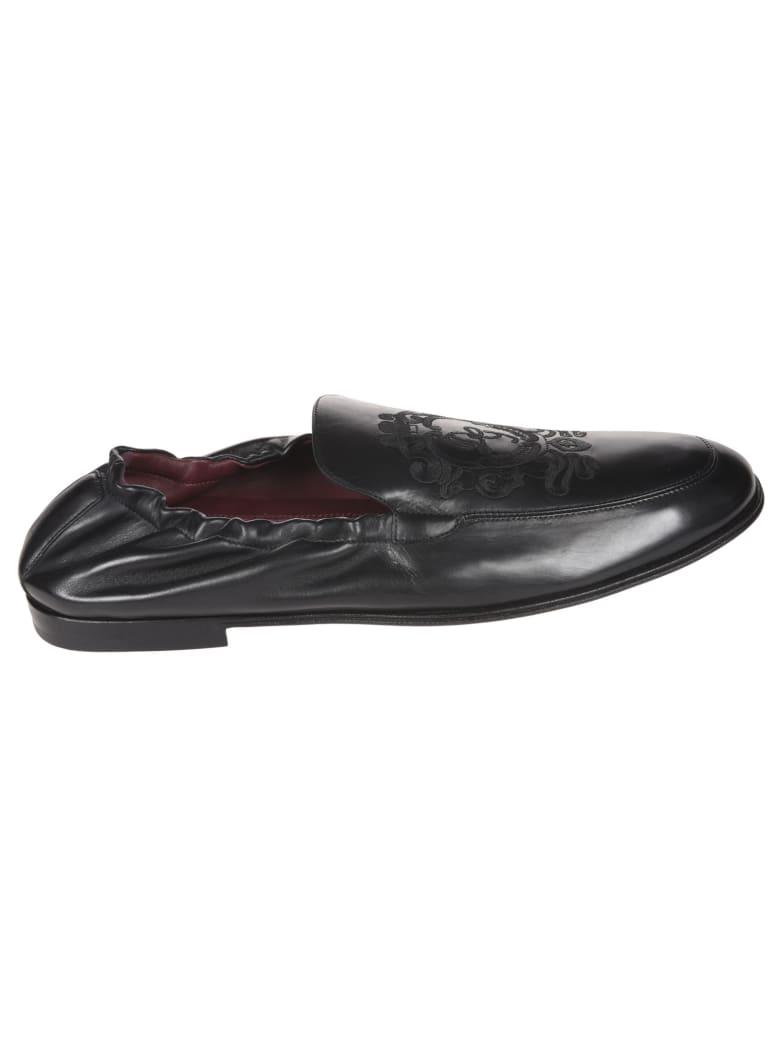 Dolce & Gabbana Elasticated Slip-on Loafers - Black