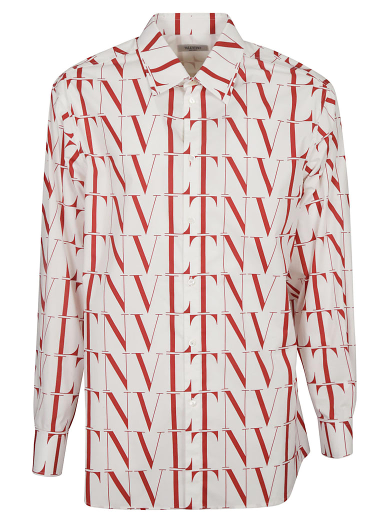 Valentino Vltn Logo Shirt - White/Red