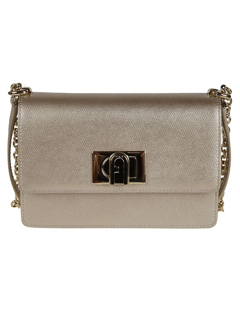 Furla Metallic 1927 Crossbody Bag - Gold