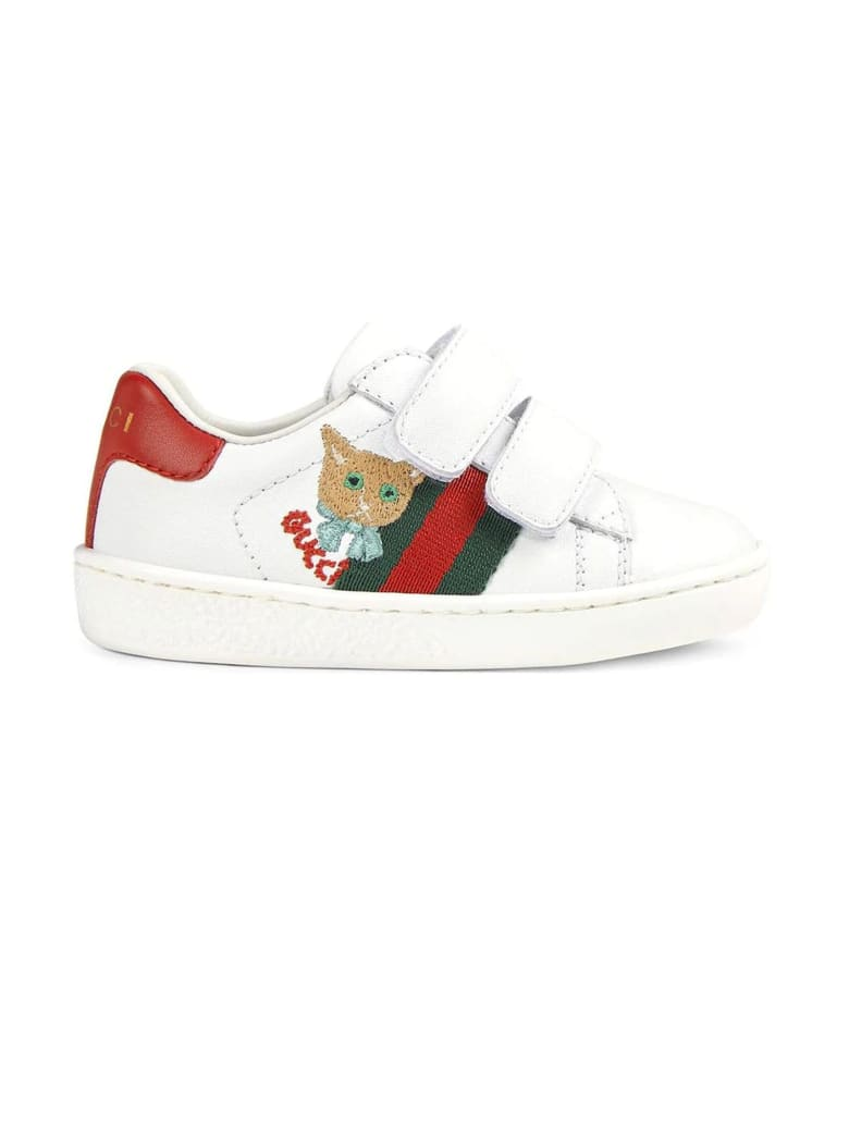 Gucci White Leather Toddler Ace Sneaker - Bianco