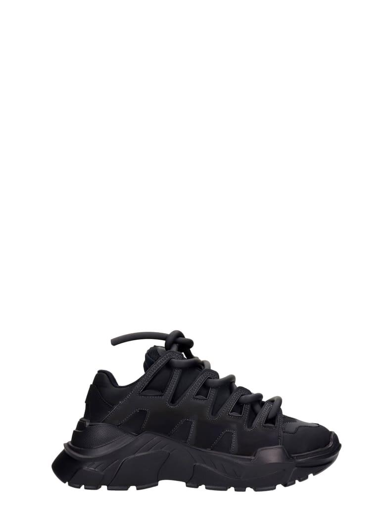 Gienchi Ozzy Sneakers In Black Rubber/plasic - black