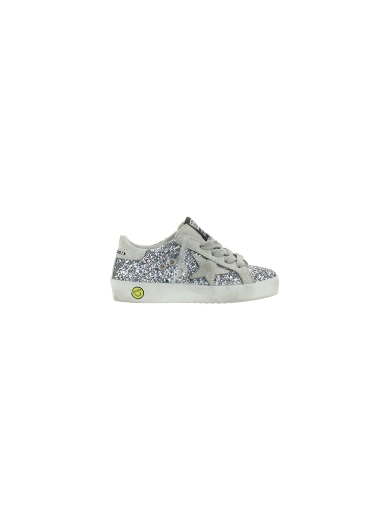Golden Goose Super Star Sneakers For Girl - Silver/ice