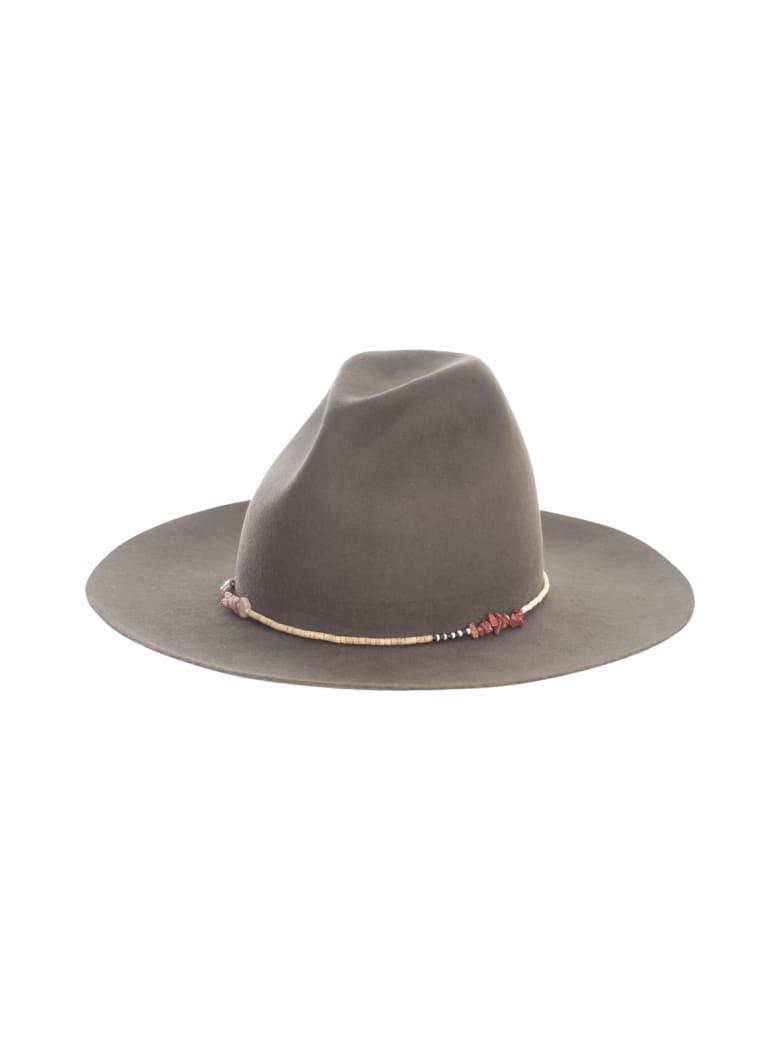 Super Duper Hats Round Crown Large Raw Brim Casamarina Beadwork - Dove