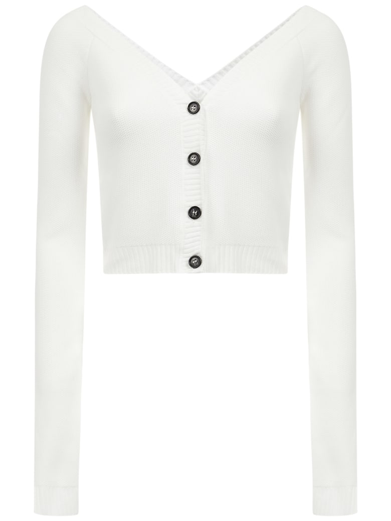 N.21 N°21 Cardigan - White