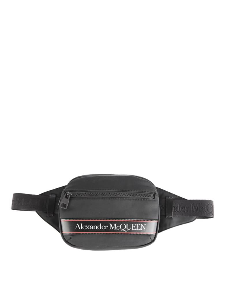 Alexander McQueen Logo Stripe Belt Bag - Black/l.red/black