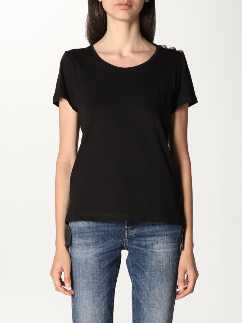 Paciotti 4US T-shirt Paciotti 4us T-shirt With Buttons - Black