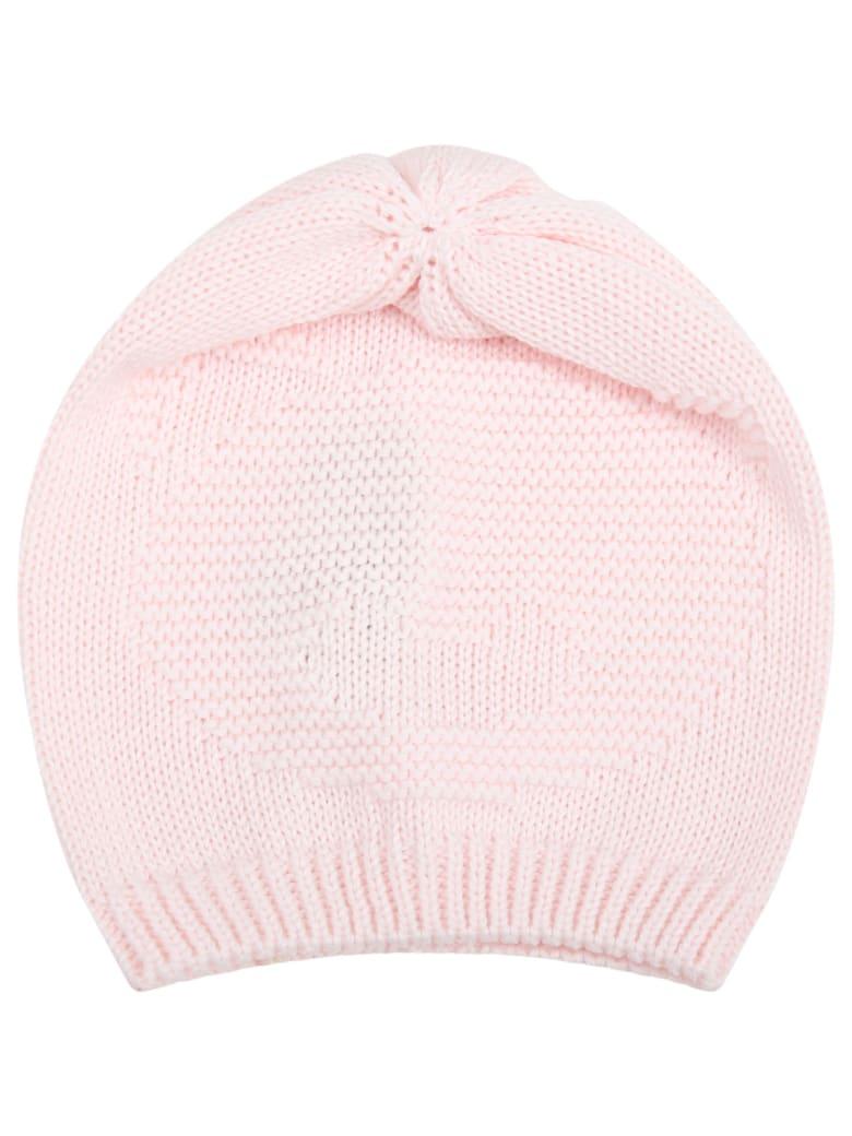 Little Bear Pink Hat For Babygirl - Pink