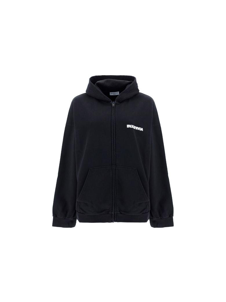 Balenciaga Hoodie - Washed black/white