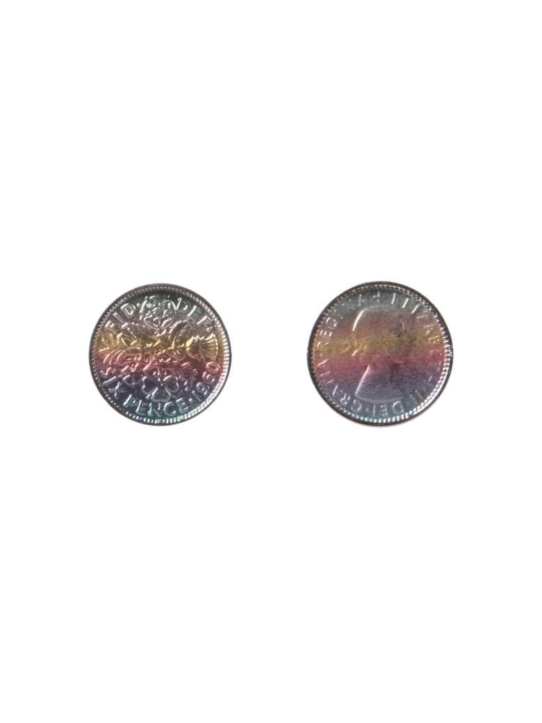 Paul Smith Gr Coin Cufflinks - MULTICOLOR