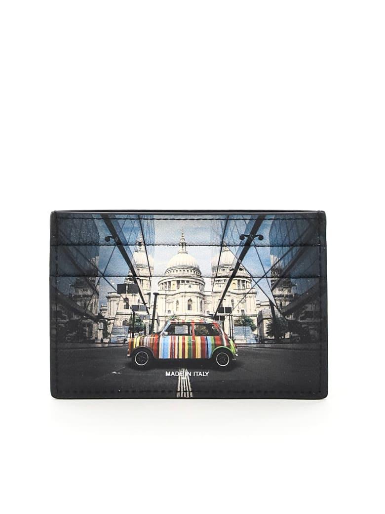 Paul Smith Mini Print Card Holder - Nero
