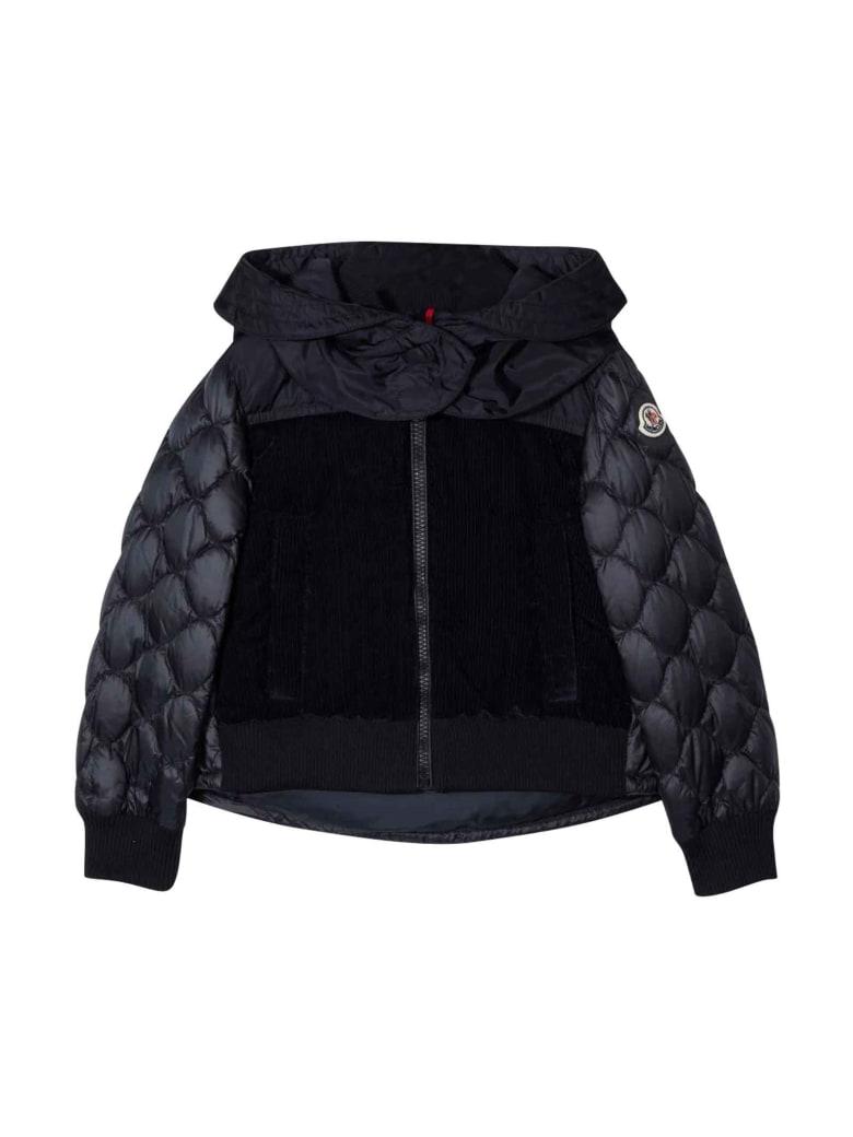 Moncler Black Down Jacket - Blu