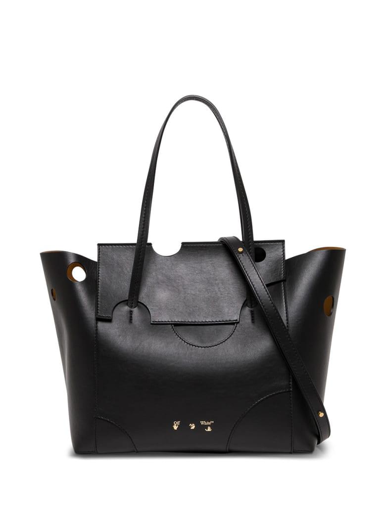 Off-White Burrow 38 Back Leather Shopper Bag - Black