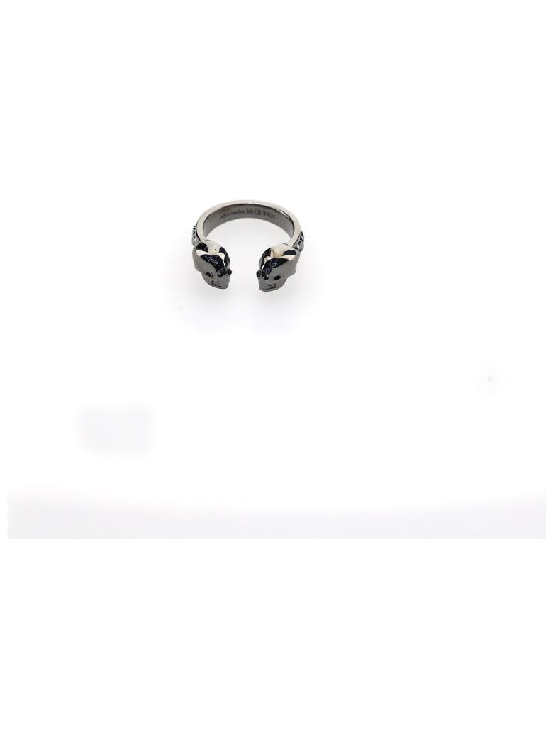 Alexander McQueen Ring - Dk rutenio ant
