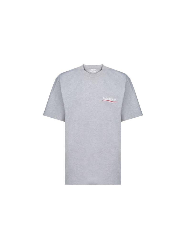 Balenciaga T-shirt - Heather grey/white/red