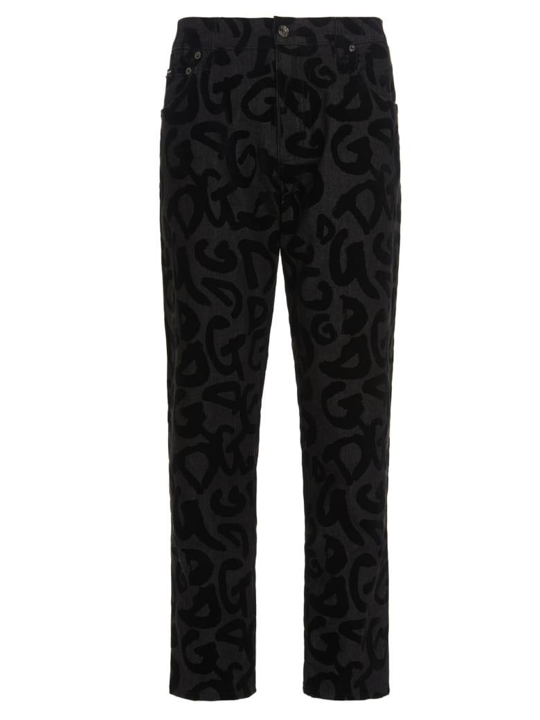 Dolce & Gabbana Loose Logo Jeans - Black