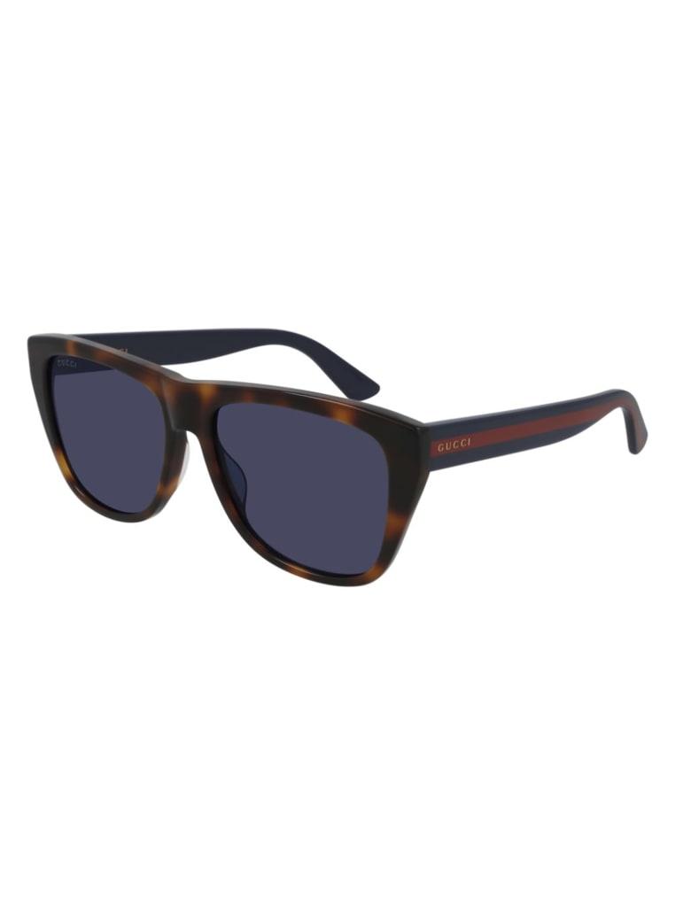 Gucci GG0926S Sunglasses - Havana Blue Blue